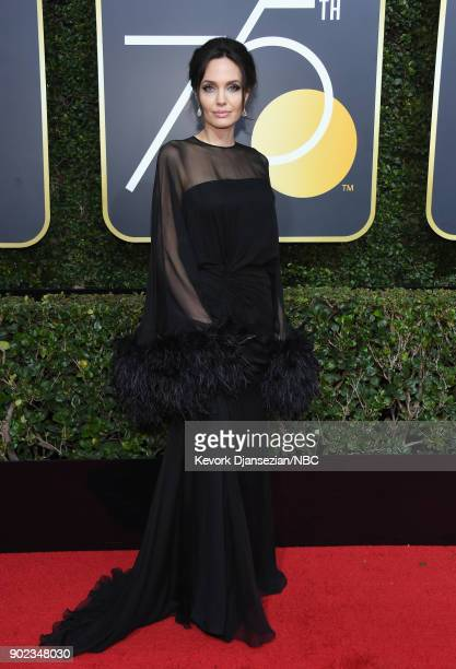 75th ANNUAL GOLDEN GLOBE AWARDS Pictured Actor/ director Angelina Jolie arrives to the 75th Annual Golden Globe Awards held at the Beverly Hilton...