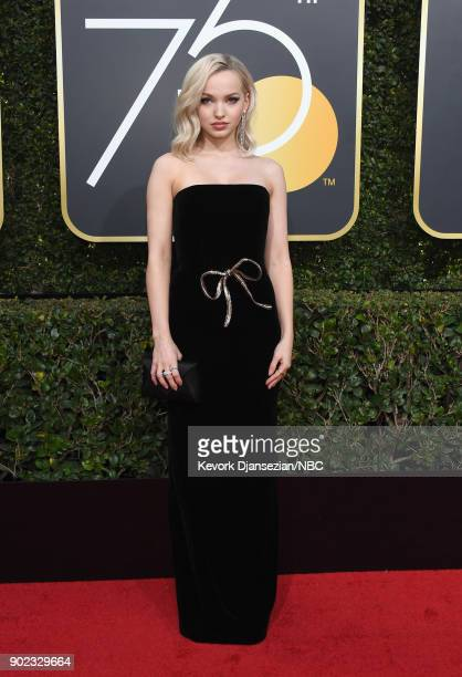 75th ANNUAL GOLDEN GLOBE AWARDS Pictured Actor Dove Cameron arrives to the 75th Annual Golden Globe Awards held at the Beverly Hilton Hotel on...