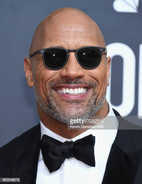 75th ANNUAL GOLDEN GLOBE AWARDS Pictured Actor Dwayne Johnson arrives to the 75th Annual Golden Globe Awards held at the Beverly Hilton Hotel on...