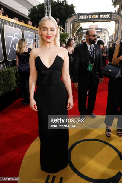 75th ANNUAL GOLDEN GLOBE AWARDS Pictured Actor Emilia Clarke arrives to the 75th Annual Golden Globe Awards held at the Beverly Hilton Hotel on...