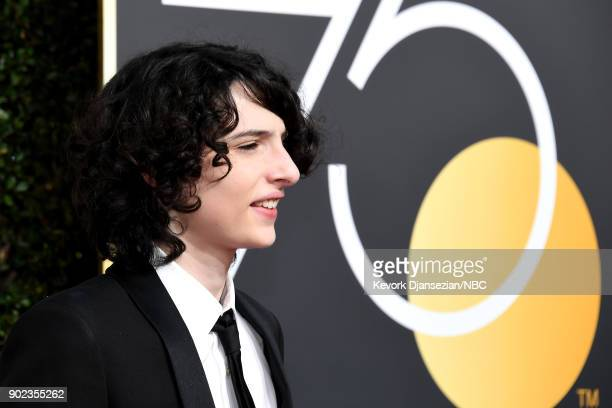 75th ANNUAL GOLDEN GLOBE AWARDS Pictured Actor Finn Wolfhard arrives to the 75th Annual Golden Globe Awards held at the Beverly Hilton Hotel on...