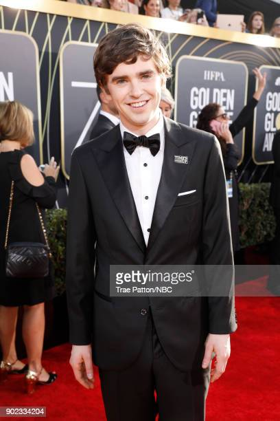 75th ANNUAL GOLDEN GLOBE AWARDS Pictured Actor Freddie Highmore arrives to the 75th Annual Golden Globe Awards held at the Beverly Hilton Hotel on...