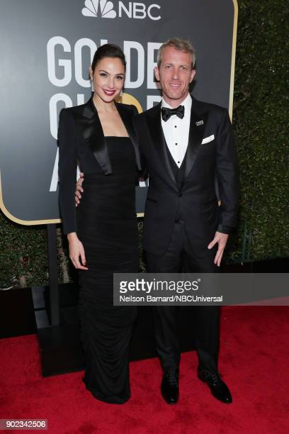75th ANNUAL GOLDEN GLOBE AWARDS Pictured Actor Gal Gadot and Yaron Versano arrive to the 75th Annual Golden Globe Awards held at the Beverly Hilton...