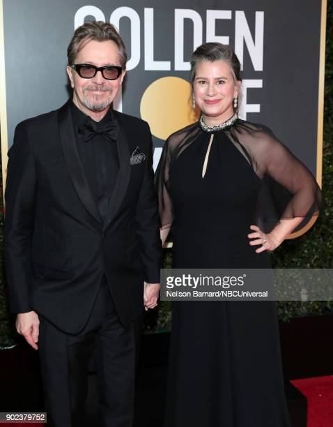 75th ANNUAL GOLDEN GLOBE AWARDS Pictured Actor Gary Oldman and Gisele Schmidt arrive to the 75th Annual Golden Globe Awards held at the Beverly...