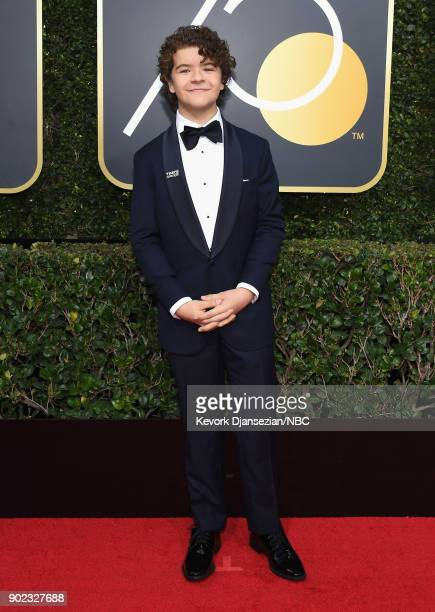 75th ANNUAL GOLDEN GLOBE AWARDS Pictured Actor Gaten Matarazzo arrives to the 75th Annual Golden Globe Awards held at the Beverly Hilton Hotel on...