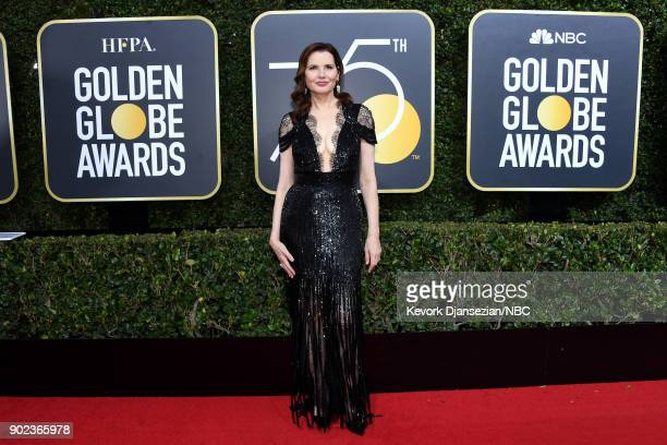 75th ANNUAL GOLDEN GLOBE AWARDS Pictured Actor Geena Davis arrives to the 75th Annual Golden Globe Awards held at the Beverly Hilton Hotel on January...
