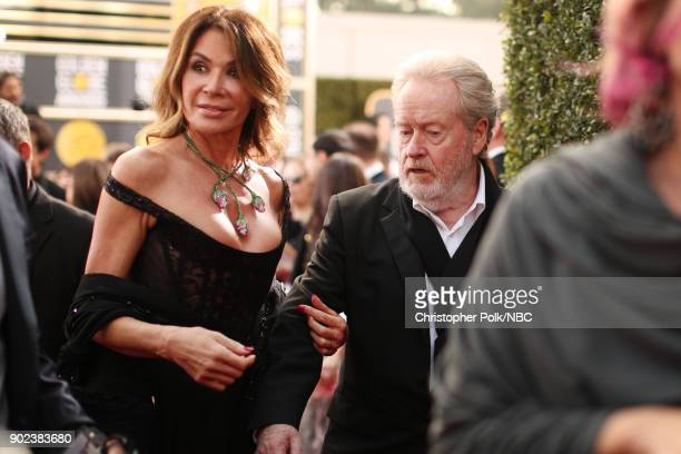 75th ANNUAL GOLDEN GLOBE AWARDS Pictured Actor Giannina Facio and director Ridley Scott arrive to the 75th Annual Golden Globe Awards held at the...
