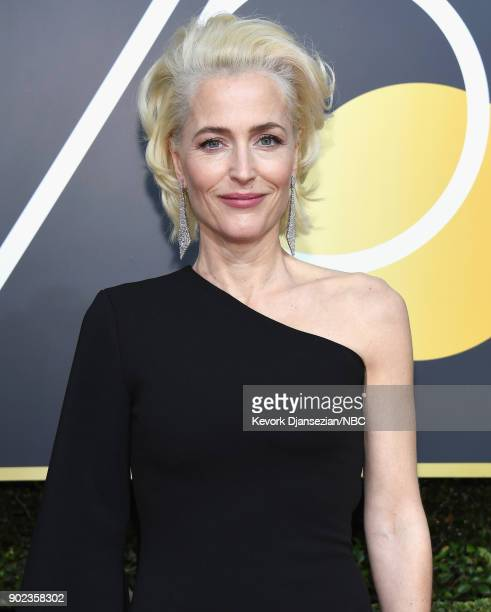 75th ANNUAL GOLDEN GLOBE AWARDS Pictured Actor Gillian Anderson arrives to the 75th Annual Golden Globe Awards held at the Beverly Hilton Hotel on...