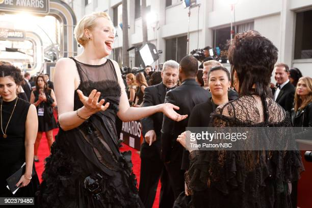75th ANNUAL GOLDEN GLOBE AWARDS Pictured Actor Gwendoline Christie arrives to the 75th Annual Golden Globe Awards held at the Beverly Hilton Hotel on...