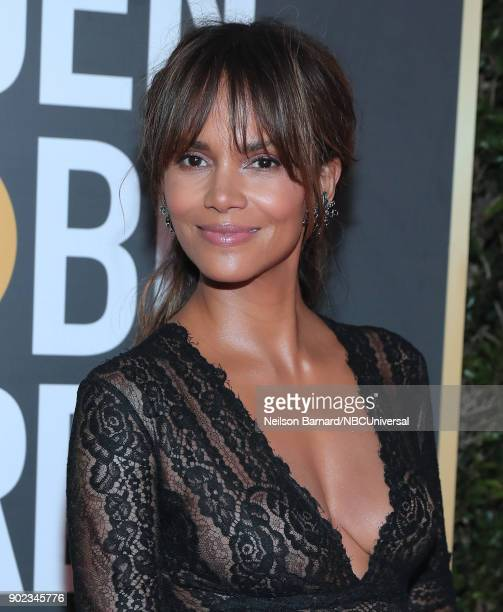 75th ANNUAL GOLDEN GLOBE AWARDS -- Pictured: Actor Halle Berry arrives to the 75th Annual Golden Globe Awards held at the Beverly Hilton Hotel on...
