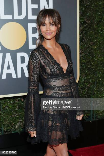 75th ANNUAL GOLDEN GLOBE AWARDS Pictured Actor Halle Berry arrives to the 75th Annual Golden Globe Awards held at the Beverly Hilton Hotel on January...