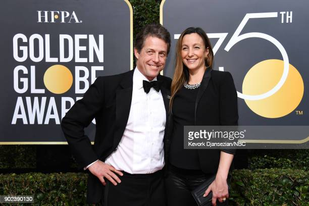 75th ANNUAL GOLDEN GLOBE AWARDS Pictured Actor Hugh Grant and Anna Eberstein arrive to the 75th Annual Golden Globe Awards held at the Beverly Hilton...