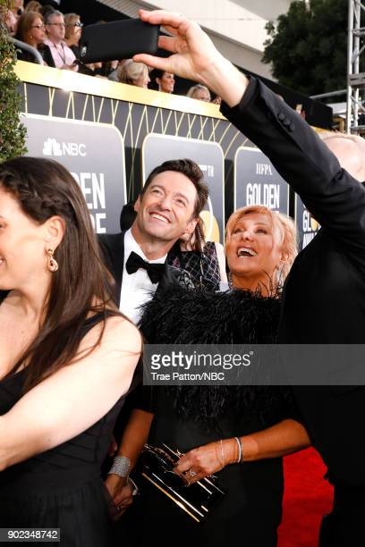 75th ANNUAL GOLDEN GLOBE AWARDS Pictured Actor Hugh Jackman and Deborralee Furness arrive to the 75th Annual Golden Globe Awards held at the Beverly...