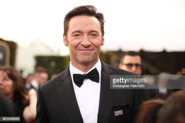 75th ANNUAL GOLDEN GLOBE AWARDS Pictured Actor Hugh Jackman arrives to the 75th Annual Golden Globe Awards held at the Beverly Hilton Hotel on...