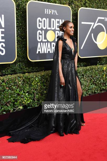 75th ANNUAL GOLDEN GLOBE AWARDS Pictured Actor Issa Rae arrives to the 75th Annual Golden Globe Awards held at the Beverly Hilton Hotel on January 7...
