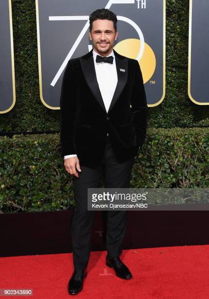 75th ANNUAL GOLDEN GLOBE AWARDS Pictured Actor James Franco arrives to the 75th Annual Golden Globe Awards held at the Beverly Hilton Hotel on...
