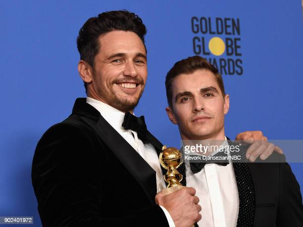 75th ANNUAL GOLDEN GLOBE AWARDS Pictured Actor James Franco poses with Best Performance by an Actor in a Motion Picture Musical or Comedy award for...