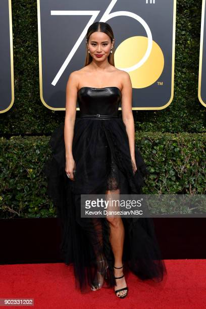 75th ANNUAL GOLDEN GLOBE AWARDS Pictured Actor Jamie Chung arrives to the 75th Annual Golden Globe Awards held at the Beverly Hilton Hotel on January...