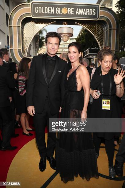 75th ANNUAL GOLDEN GLOBE AWARDS Pictured Actor Jason Bateman and Amanda Anka arrive to the 75th Annual Golden Globe Awards held at the Beverly Hilton...