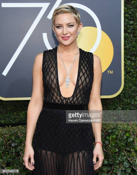 75th ANNUAL GOLDEN GLOBE AWARDS Pictured Actor Kate Hudson arrives to the 75th Annual Golden Globe Awards held at the Beverly Hilton Hotel on January...