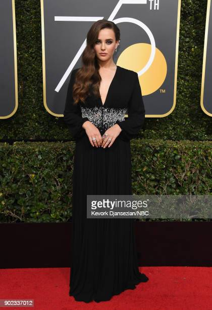 75th ANNUAL GOLDEN GLOBE AWARDS Pictured Actor Katherine Langford arrives to the 75th Annual Golden Globe Awards held at the Beverly Hilton Hotel on...