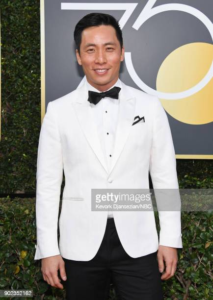 75th ANNUAL GOLDEN GLOBE AWARDS Pictured Actor Kelvin Yu arrives to the 75th Annual Golden Globe Awards held at the Beverly Hilton Hotel on January 7...