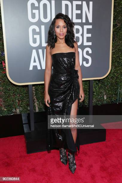 75th ANNUAL GOLDEN GLOBE AWARDS Pictured Actor Kerry Washington arrives to the 75th Annual Golden Globe Awards held at the Beverly Hilton Hotel on...