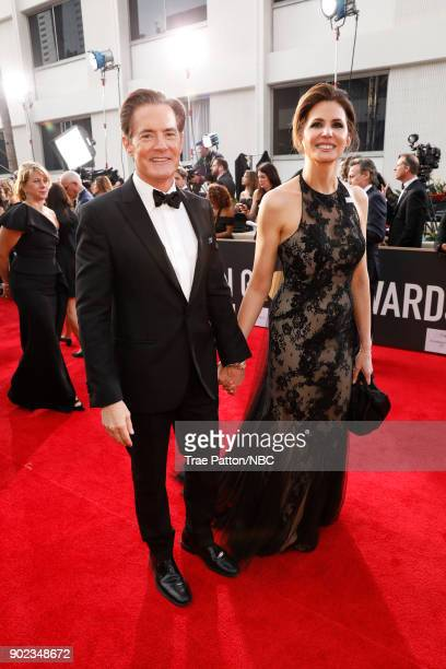 75th ANNUAL GOLDEN GLOBE AWARDS Pictured Actor Kyle MacLachlan and Desiree Gruber arrive to the 75th Annual Golden Globe Awards held at the Beverly...