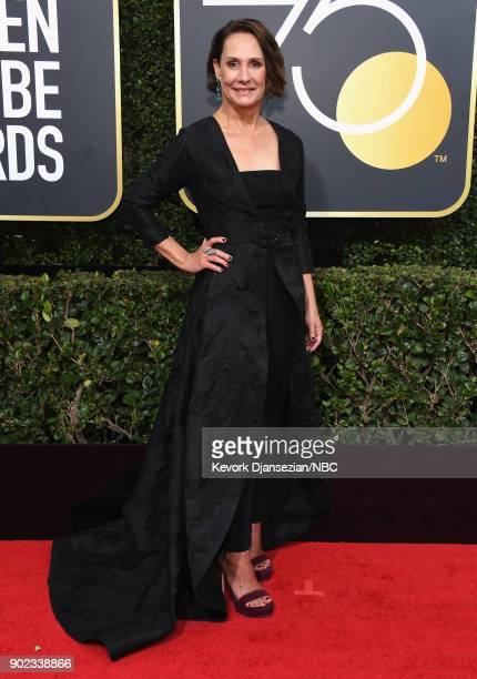 75th ANNUAL GOLDEN GLOBE AWARDS Pictured Actor Laurie Metcalf arrives to the 75th Annual Golden Globe Awards held at the Beverly Hilton Hotel on...