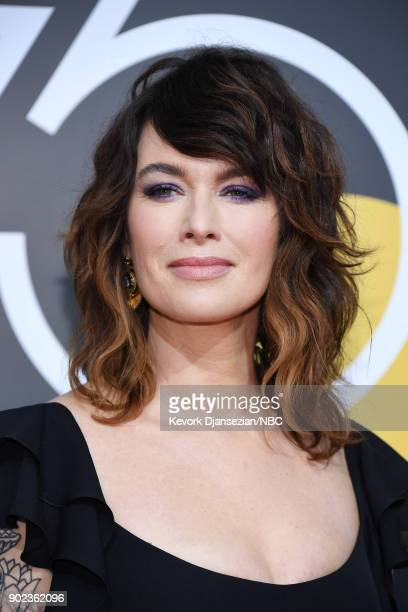 75th ANNUAL GOLDEN GLOBE AWARDS Pictured Actor Lena Headey arrives to the 75th Annual Golden Globe Awards held at the Beverly Hilton Hotel on January...