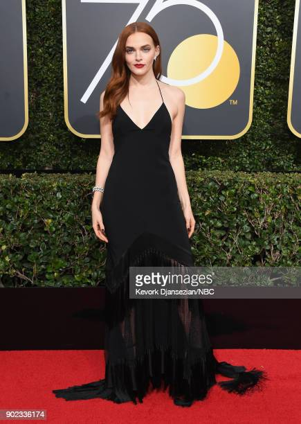 75th ANNUAL GOLDEN GLOBE AWARDS Pictured Actor Madeline Brewer arrives to the 75th Annual Golden Globe Awards held at the Beverly Hilton Hotel on...