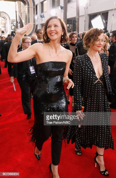75th ANNUAL GOLDEN GLOBE AWARDS Pictured Actor Maggie Gyllenhaal arrives to the 75th Annual Golden Globe Awards held at the Beverly Hilton Hotel on...