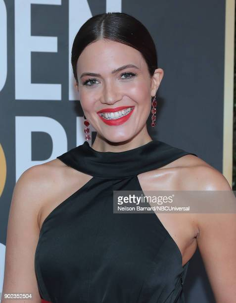 75th ANNUAL GOLDEN GLOBE AWARDS Pictured Actor Mandy Moore arrives to the 75th Annual Golden Globe Awards held at the Beverly Hilton Hotel on January...
