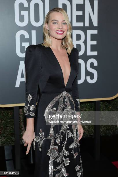 75th ANNUAL GOLDEN GLOBE AWARDS Pictured Actor Margot Robbie arrives to the 75th Annual Golden Globe Awards held at the Beverly Hilton Hotel on...