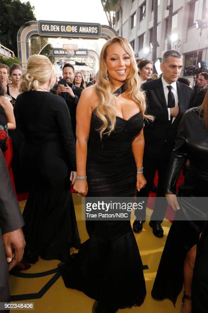 75th ANNUAL GOLDEN GLOBE AWARDS Pictured Actor Mariah Carey arrives to the 75th Annual Golden Globe Awards held at the Beverly Hilton Hotel on...