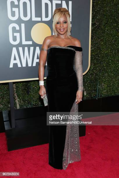 75th ANNUAL GOLDEN GLOBE AWARDS Pictured Actor Mary J Blige arrives to the 75th Annual Golden Globe Awards held at the Beverly Hilton Hotel on...