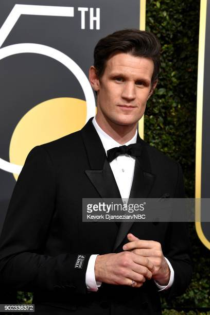 75th ANNUAL GOLDEN GLOBE AWARDS Pictured Actor Matt Smith arrives to the 75th Annual Golden Globe Awards held at the Beverly Hilton Hotel on January...