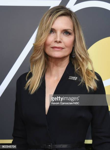 75th ANNUAL GOLDEN GLOBE AWARDS Pictured Actor Michelle Pfeiffer arrives to the 75th Annual Golden Globe Awards held at the Beverly Hilton Hotel on...