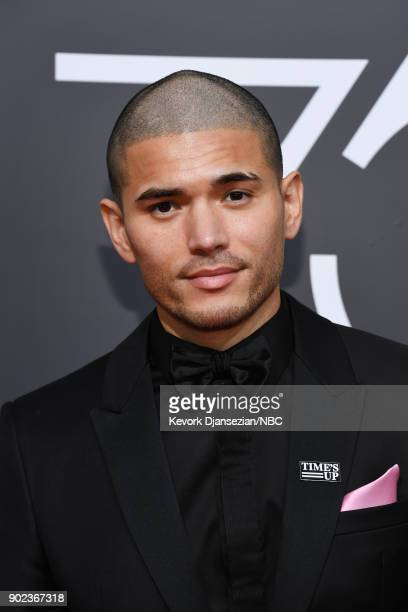 75th ANNUAL GOLDEN GLOBE AWARDS Pictured Actor Miguel Gomez arrives to the 75th Annual Golden Globe Awards held at the Beverly Hilton Hotel on...