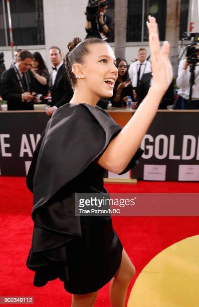 75th ANNUAL GOLDEN GLOBE AWARDS Pictured Actor Millie Bobbie Brown arrives to the 75th Annual Golden Globe Awards held at the Beverly Hilton Hotel on...