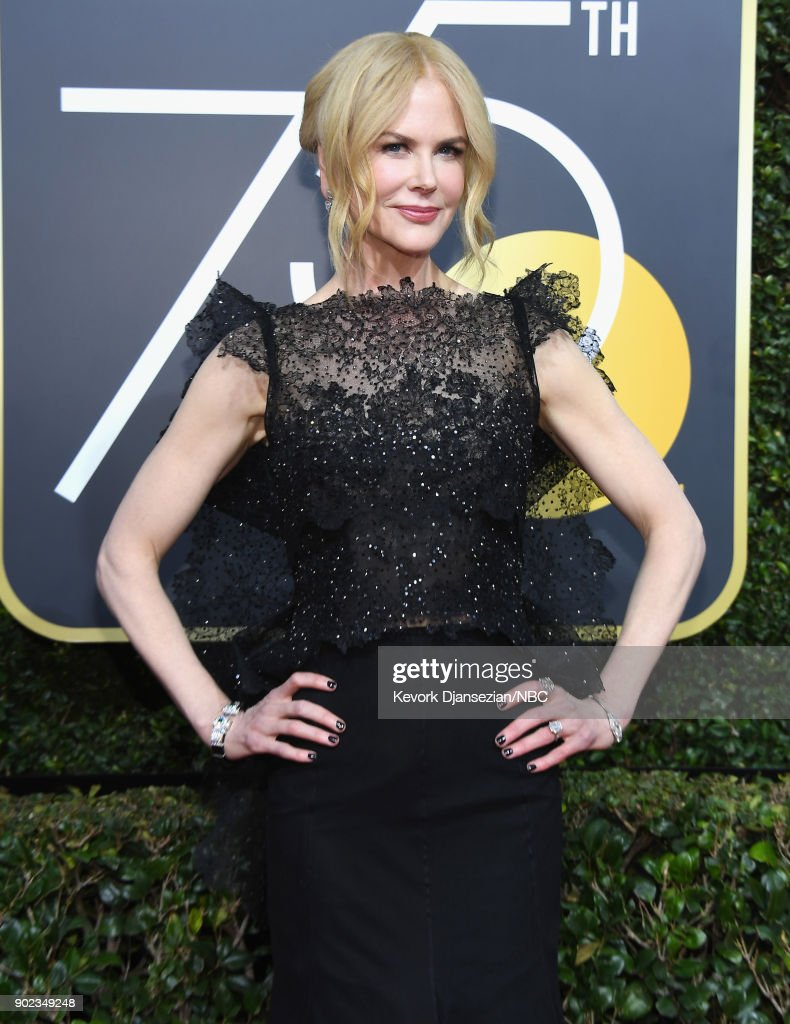 75th ANNUAL GOLDEN GLOBE AWARDS -- Pictured: Actor Nicole Kidman arrives to the 75th Annual Golden Globe Awards held at the Beverly Hilton Hotel on January 7, 2018.