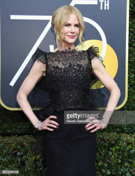 75th ANNUAL GOLDEN GLOBE AWARDS -- Pictured: Actor Nicole Kidman arrives to the 75th Annual Golden Globe Awards held at the Beverly Hilton Hotel on...