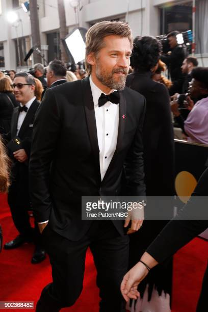 75th ANNUAL GOLDEN GLOBE AWARDS Pictured Actor Nikolaj CosterWaldau arrives to the 75th Annual Golden Globe Awards held at the Beverly Hilton Hotel...