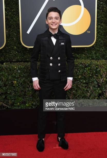 75th ANNUAL GOLDEN GLOBE AWARDS Pictured Actor Noah Schnapp arrives to the 75th Annual Golden Globe Awards held at the Beverly Hilton Hotel on...