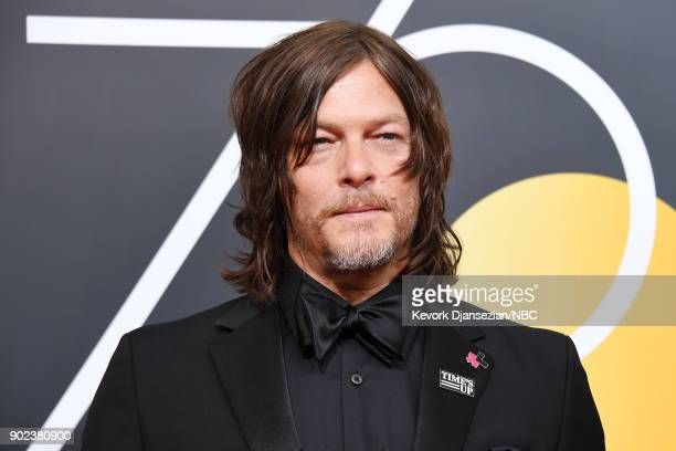 75th ANNUAL GOLDEN GLOBE AWARDS Pictured Actor Norman Reedus arrives to the 75th Annual Golden Globe Awards held at the Beverly Hilton Hotel on...