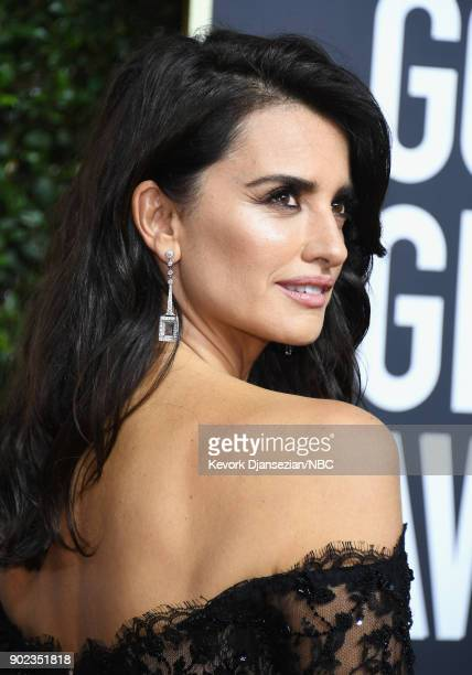 75th ANNUAL GOLDEN GLOBE AWARDS Pictured Actor Penélope Cruz arrives to the 75th Annual Golden Globe Awards held at the Beverly Hilton Hotel on...