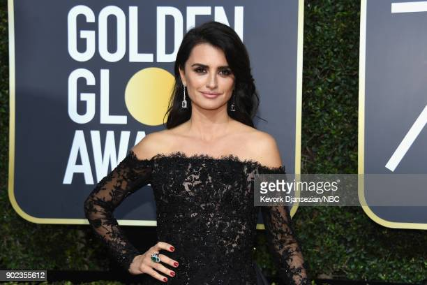 75th ANNUAL GOLDEN GLOBE AWARDS -- Pictured: Actor Penélope Cruz arrives to the 75th Annual Golden Globe Awards held at the Beverly Hilton Hotel on...