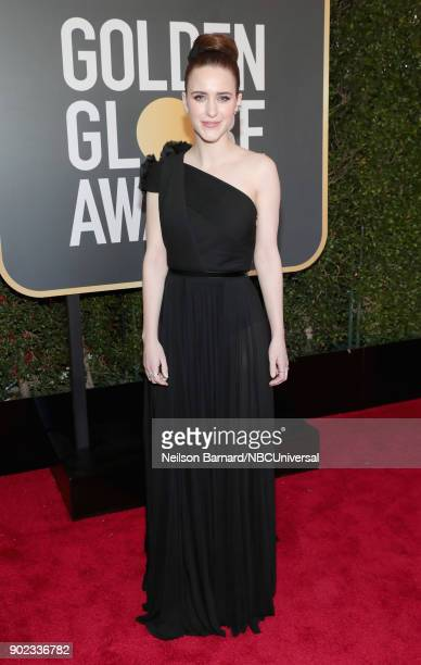 75th ANNUAL GOLDEN GLOBE AWARDS Pictured Actor Rachel Brosnahan arrives to the 75th Annual Golden Globe Awards held at the Beverly Hilton Hotel on...