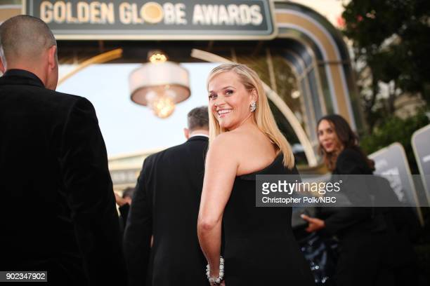 75th ANNUAL GOLDEN GLOBE AWARDS -- Pictured: Actor Reese Witherspoon arrives to the 75th Annual Golden Globe Awards held at the Beverly Hilton Hotel...