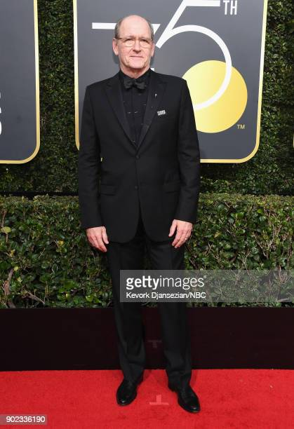 75th ANNUAL GOLDEN GLOBE AWARDS Pictured Actor Richard Jenkins arrives to the 75th Annual Golden Globe Awards held at the Beverly Hilton Hotel on...